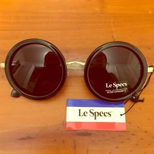 circular Le Specs sunglasses