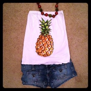 Forever 21 Tops - Pineapple strapless top