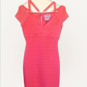 Herve Leger Dresses & Skirts - Herve Ledger Pink / Salmon Bandage Cocktail Dress