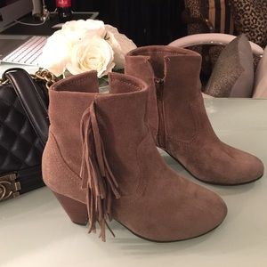 Bakers Boots - Tan booties fringe