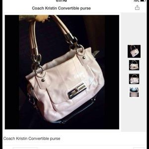 Coach Kristin convertible satchel purse bag