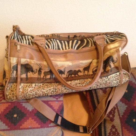 0b500b78e014e8 Handbags - Travel bag TAPESTRY animal SAFARI