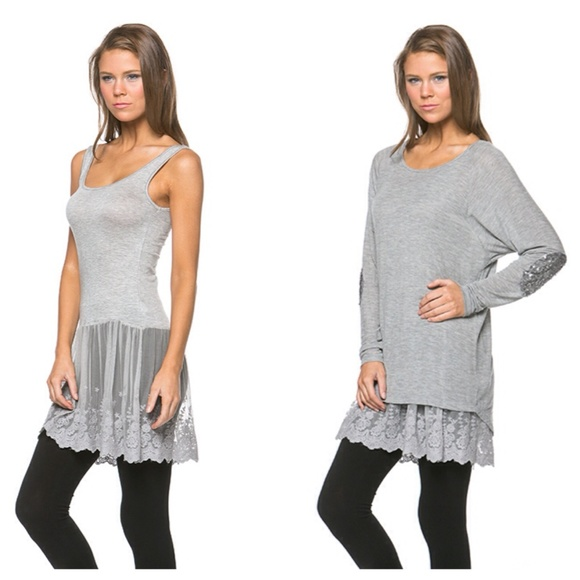54 off tops gray lace cami extender from suzanne s closet on