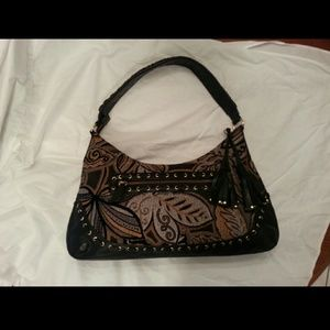 Fiore by Isabella Fiore Floral Tapestry Hobo Purse