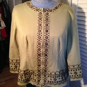 Cotton jacket with embroidery size 16