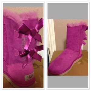 Brand New UGG Bailey Bow Pink 8