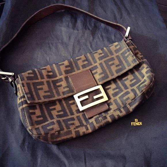 2c91c489ba36 FENDI Handbags - Fendi Baguette Bag in classic zucca canvas