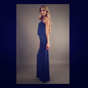 Bella Luxx Racerback Jersey Maxi Dress in xs