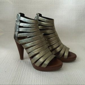 Jeffrey Campbell Shoes - Jeffery Campbell Old Gold Platform Marley Heels 6