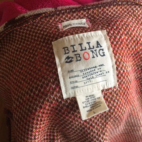 Billabong Sweaters - Billabong tribal print open cardigan