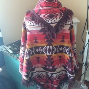 Billabong Sweaters - Billabong tribal print open cardigan