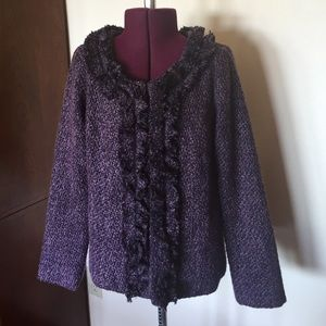 Anthropologie Jackets & Blazers - Anthropologie Nick & Mo Purple Tweed Jacket