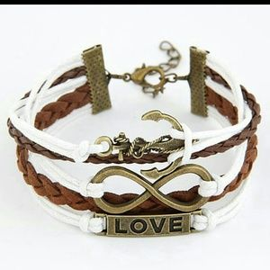New Vintage Anchor Love Infiniti Wrapped Bracelet