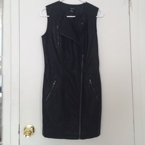 Faux Leather Biker Dress