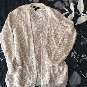 Forever 21 Sweaters - Tan/Cream Sweater Cardigan