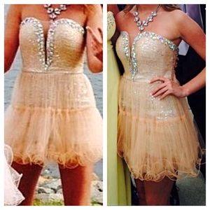 Dresses Prom Dress Size 4 Has Shorts Underneath Poshmark