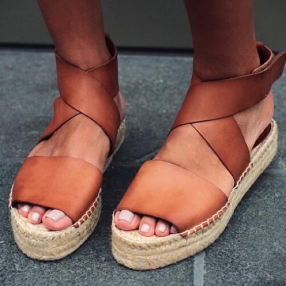 40 Off Vince Shoes Vince Elise Espadrille Flat Leather