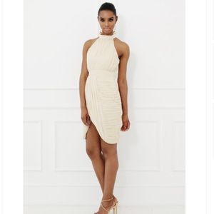 Dresses & Skirts - Ivory Halter Dress with Rouching Detail