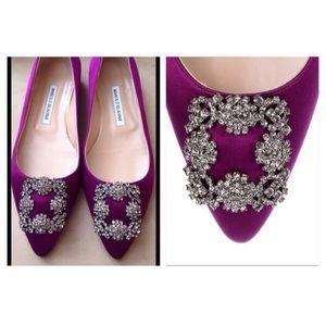 purple manolo blahnik shoes