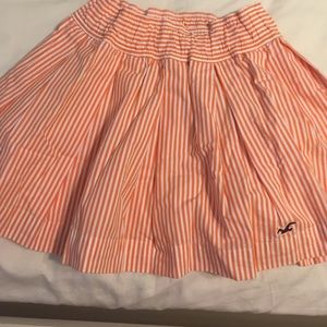Hollister striped orange skirt