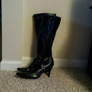 Black heeled boots *Price reduced*
