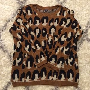 Urban Outfitters Sweaters - Urban Outfitters Oversized Animal Print Sweater