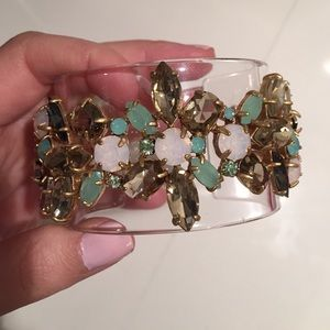 New J.Crew jeweled acrylic cuff bracelet
