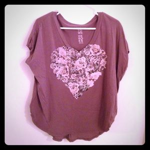 Urbanoutfitters Rose Heart Top