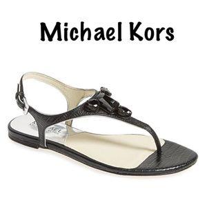 "Michael Kors ""Jayden"" Leather Thong Sandals"