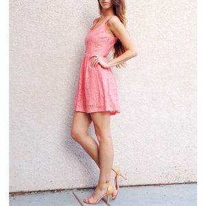 | new | pink lace dress