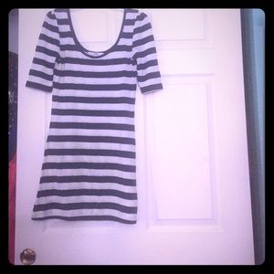 Cute Slim Nautical Shirt Dress