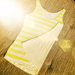 Loft Yellow Sunwashed Striped Tank
