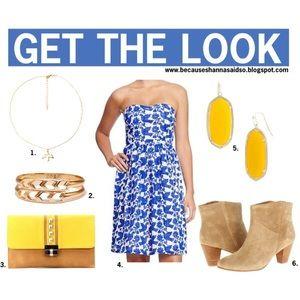 Old Navy Dresses & Skirts - Blue & White Strapless Dress