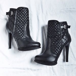 Zara Quilted Ankle Boots