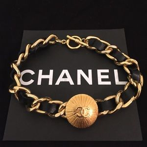 Custom made CHANEL chain leather Bracelet