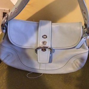 ~SALE~ COACH Campbell Leather Sea Blue Bag