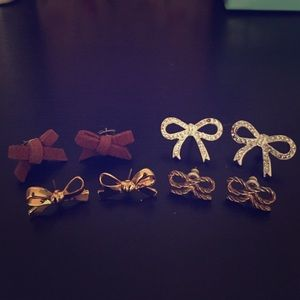 Jewelry - 🎀Bow Earring Bundle🎀 (can be sold separately)