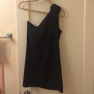 Little black dress with one shoulder