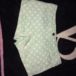 Forever 21 Mint polka dot shorts
