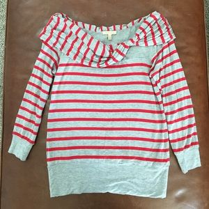 Anthropologie 3/4 stripe shirt