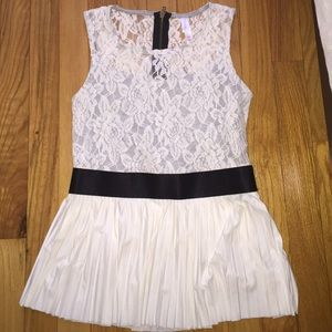 Brand New Lace Peplum Top