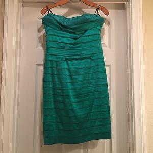 BCBG emerald green cocktail dress