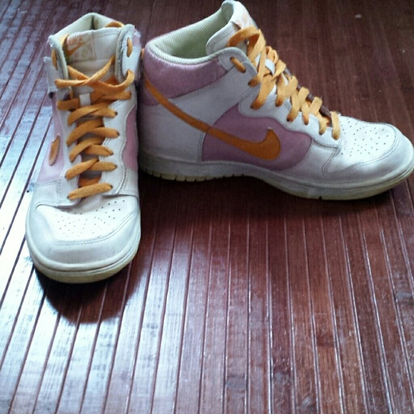 nike pink and orange nike shoes from meilani s closet on