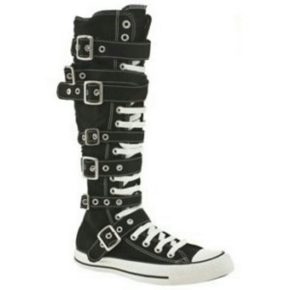 Converse Shoes | Knee High Buckle