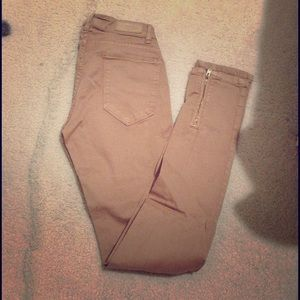 Zara Pants - Tan skinnies