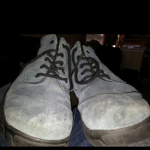 80 lands end shoes lands end blue suede boots