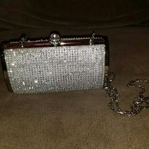 Diamond stud clutch purse