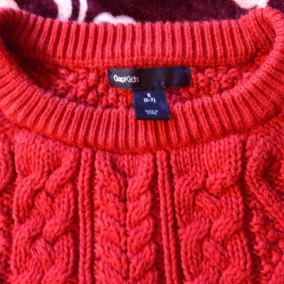 49% off Gap kids Other - gap kids red cable knit sweater from ...