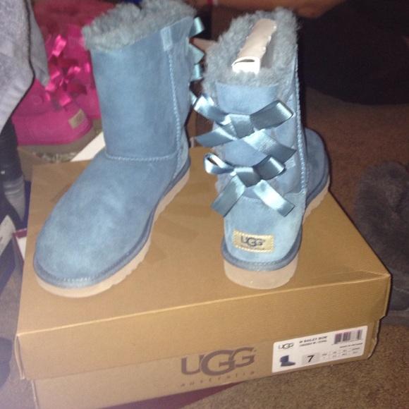 Baby Blue Bailey Bow Ugg Boots | Poshmark