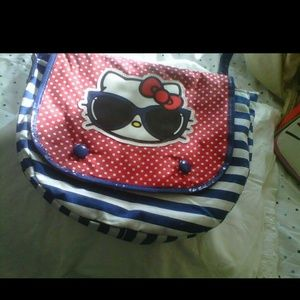 Hello kitty purse with blue strap